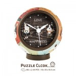 Pintoo-KC1001 Puzzle 3D Clock - Love is Key to Happiness