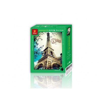 Pintoo-P1101 Puzzle en Plastique - La Tour Eiffel en Automne