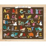 Pintoo-T1022 Puzzle en Plastique - Alphabet and Animals (en anglais)