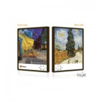 Pintoo-U1001 Puzzle Push Double Face en Plastique - Van Gogh : Les cyprès et Terrasse du café le soir