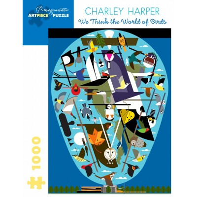 Pomegranate-AA1056 Charley Harper - We Think the World of Birds