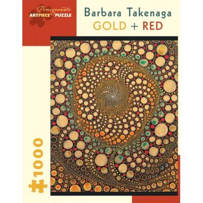 Pomegranate-AA836 Barbara Takenaga - Gold + Red