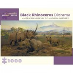 Pomegranate-AA955 Black Rhinoceros Diorama - Northwestern Slope of Mount Kenya, Kenya