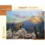 Pomegranate-AA956 Jaguar Diorama - October at Sunset, Sonora, Mexico