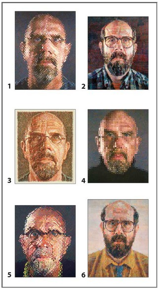Pomegranate-PB003 Chuck Close - 12 cubes pour six autoportraits