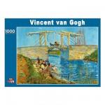 PuzzelMan-086 Puzzle 1000 pièces  -  Van Gogh : Le pont à Arles