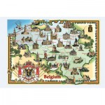 PuzzelMan-094 Carte illustrée de la Belgique