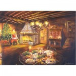 PuzzelMan-186 Le salon un soir de Noël