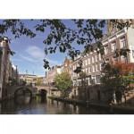 PuzzelMan-424 Pays Bas, Utrecht : Vue sur le canal