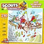 Puzzelman-814 Scouts & Squirrels - Pont Suspendu