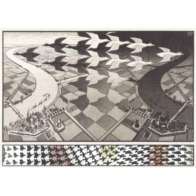 PuzzelMan-829 MC Escher : Day and Night