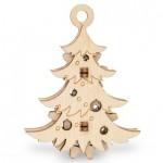 Eco-Wood-Art-55 Puzzle 3D en Bois - Sapin de Noël