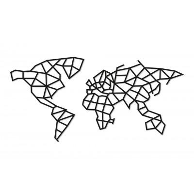 Eco-Wood-Art-83 Puzzle en Bois - World Map