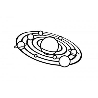Eco-Wood-Art-92 Puzzle en Bois - Solar System