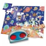 Ludattica-52493 Pièces XXL - Puzzle Secret dans l'Espace