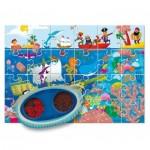Ludattica-58228 Pièces XXL - Puzzle Secret dans la Mer