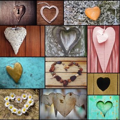 Grafika-Wood-00009 Puzzle en Bois - Collage - Love