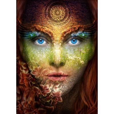 Grafika-Wood-00015 Puzzle en Bois - Femme Nature