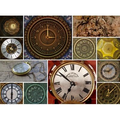 Grafika-Wood-00026 Puzzle en Bois - Collage - Horloges
