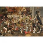 Puzzle-Michele-Wilson-A338-750 Brueghel Pieter l'ancien : Le combat de carnaval