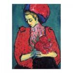 Puzzle-Michele-Wilson-A468-150 Alexandre von Jawlensky - Fille aux Pivoines, 1919