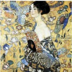Puzzle-Michele-Wilson-A515-350 Klimt  :  La dame à l'éventail