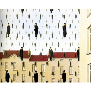 Puzzle-Michele-Wilson-A550-80 Magritte - Golconde, 1953