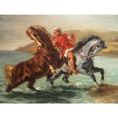 Puzzle-Michele-Wilson-A592-150 Puzzle en Bois - Delacroix - Chevaux sortant de la Mer