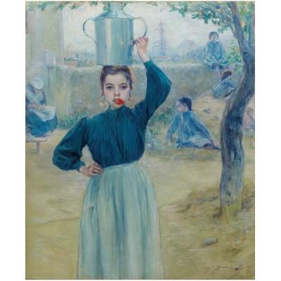 Puzzle-Michele-Wilson-A625-150 Adolfo Guiard - Villageoise à Oeillet Rouge