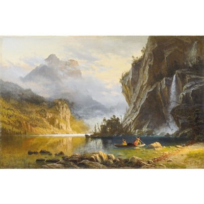 Puzzle-Michele-Wilson-A630-900 Puzzle en Bois - Bierstadt, Pêche Indienne