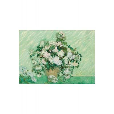 Puzzle-Michele-Wilson-A640-650 Puzzle en Bois - Van Gogh - Vase de Roses