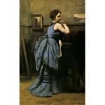 Puzzle-Michele-Wilson-A641-80 Jean-Baptiste Camille Corot - La Dame en Bleu