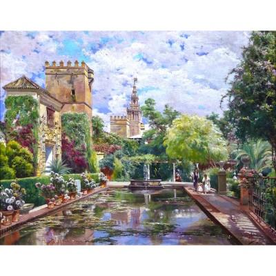 Puzzle-Michele-Wilson-A661-250 Puzzle en Bois découpé à la Main - Manuel Garcia y Rodriguez - Le Bassin d'Alcazar