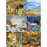 Puzzle-Michele-Wilson-A681-1800 6 Puzzles en Bois - Alain Thomas - Les Félins