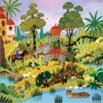 Puzzle-Michele-Wilson-A682-500 Puzzle en Bois - Alain Thomas - Paysage Oriental au Tigre
