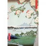 Puzzle-Michele-Wilson-A974-350 Hiroshige : Pommiers en fleurs