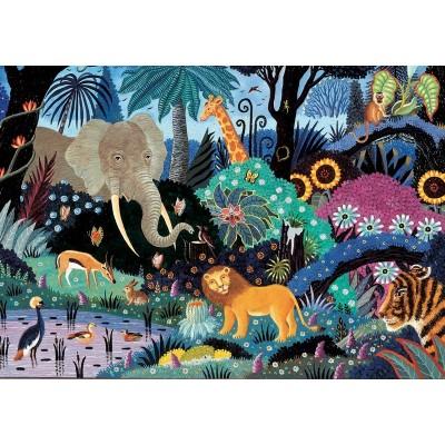 Puzzle-Michele-Wilson-K065-50 Puzzle en Bois découpé à la Main - Nuit dans la Jungle