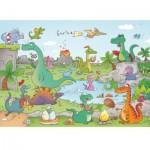 Puzzle-Michele-Wilson-K144-24 Puzzle en Bois découpé à la Main - Cacouault - Dinosaures
