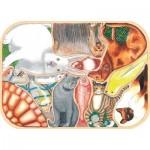 Puzzle-Michele-Wilson-K441-12 Puzzle en Bois découpé à la Main - Animaux Familiers en Folie
