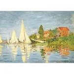 Puzzle-Michele-Wilson-K452-50 Puzzle en Bois découpé à la Main - Claude Monet - Régates à Argenteuil