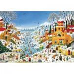 Puzzle-Michele-Wilson-K774-100 Puzzle en Bois découpé à la Main - Thomas - Scène Hivernale au Toucans
