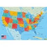 Puzzle-Michele-Wilson-K84-50 Puzzle en Bois découpé à la Main - Carte des Etats-Unis