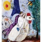 Puzzle-Michele-Wilson-W109-24 Chagall : Les mariées de la Tour Eiffel