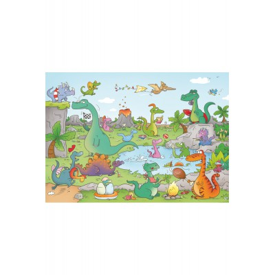 Puzzle-Michele-Wilson-W144-24 Cacouault : Les Dinosaures