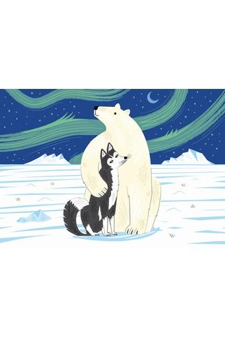Puzzle-Michele-Wilson-W160-12 Lake : L'Ours et le Husky
