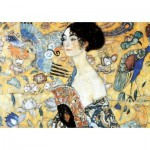Puzzle-Michele-Wilson-W515-100 Puzzle en Bois - Klimt Gustav - La Dame à l'Eventail