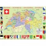 Puzzle-Michele-Wilson-W77-50 Carte de la Suisse