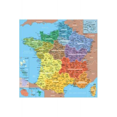 Puzzle-Michele-Wilson-W80-24 Puzzle en bois - Art Maxi 24 pièces - Géographie : Carte de France