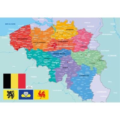 Puzzle-Michele-Wilson-W83-24 Puzzle en Bois - Carte de la Belgique