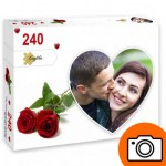 PP-Photo-Coeur-240 Puzzle Photo Personnalisé 240 pièces Coeur